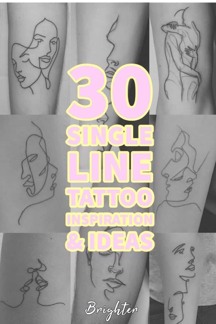 30 Single Line Tattoo Information & Ideas for tattoo artists