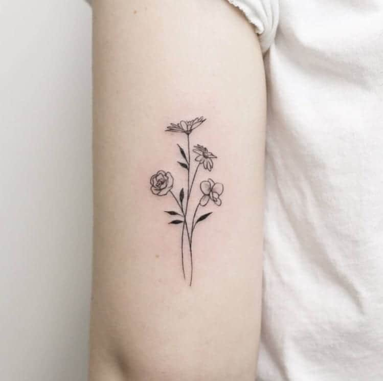 50 Small Delicate Floral Tattoo Information Ideas Brighter Craft All the inspiration you could possibly need. 50 small delicate floral tattoo
