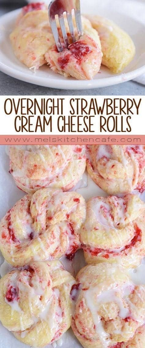 Strawberry cream cheese sweet rolls
