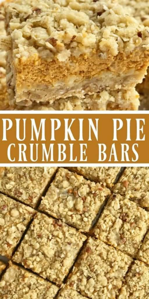 Pumpkin pie crumble bars