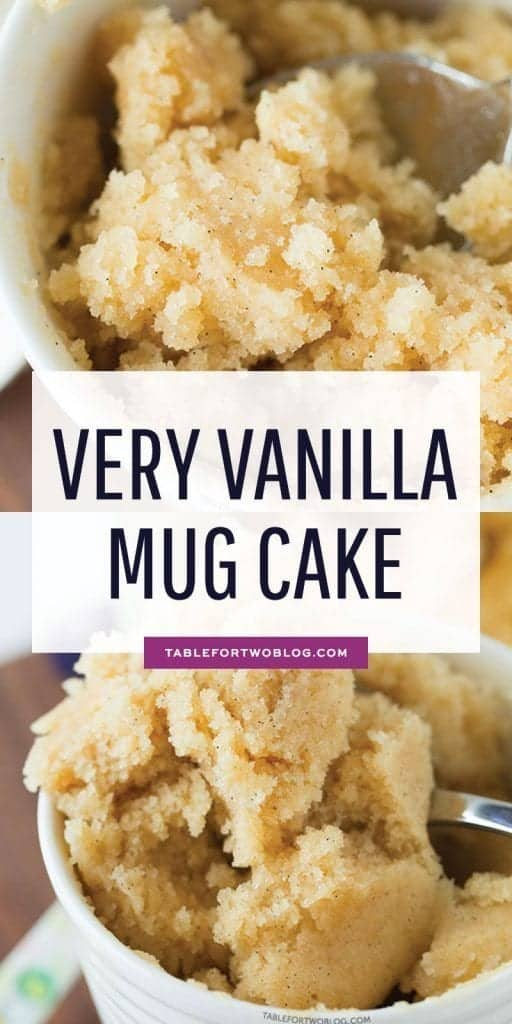 The Moistest Very Vanilla Mug Cake