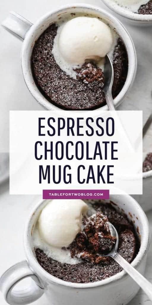 Espresso Chocolate Mug Cake