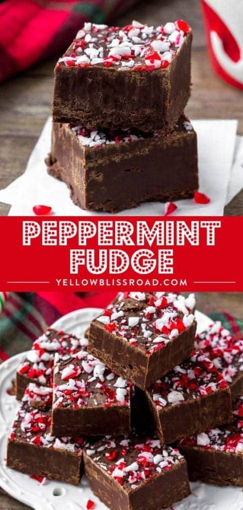 Christmas Peppermint Fudge
