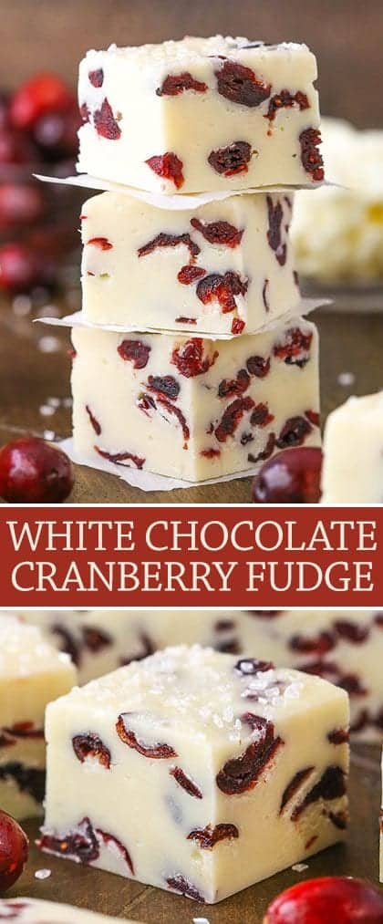 Easy White Chocolate Cranberry Fudge