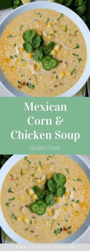 Mexican Corn & Chicken Soup