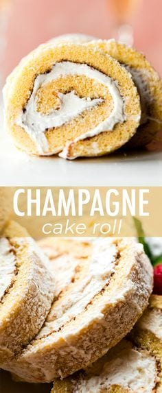 Champagne Cake Roll