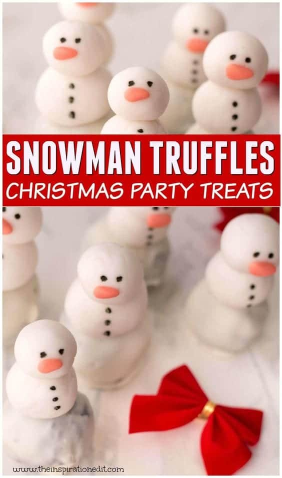 Snowman Oreo Balls Party Treat