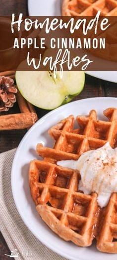 Homemade Apple Cinnamon Waffles