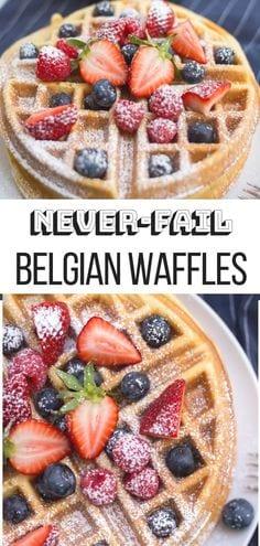 Easiest Belgian Waffle