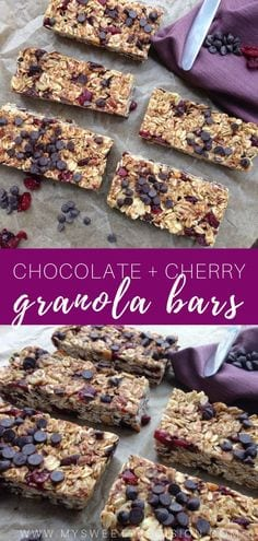 Dark Chocoalte and Cherry Granola Bars