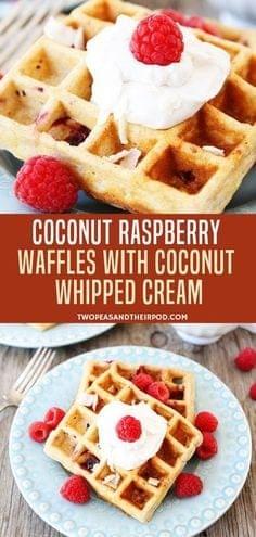 Coconut Raspberry Waffle Recipe
