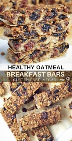 Healthy Oatmeal Breakfast Bars To-Go