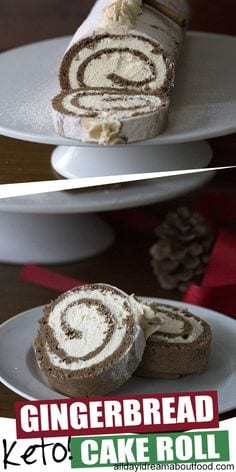 Keto Gingerbread Cake Roll