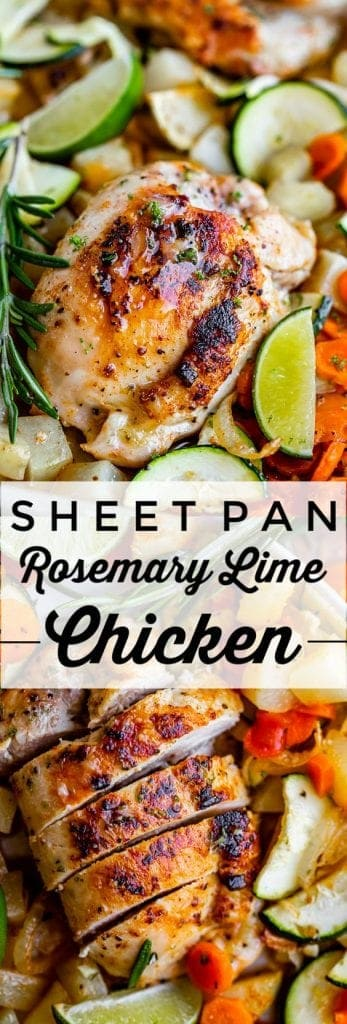 Sheet Pan Rosemary Lime Chicken