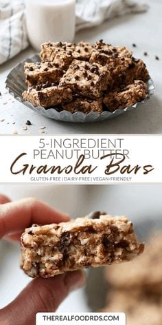 5-Ingredient Peanut Butter Granola Bars