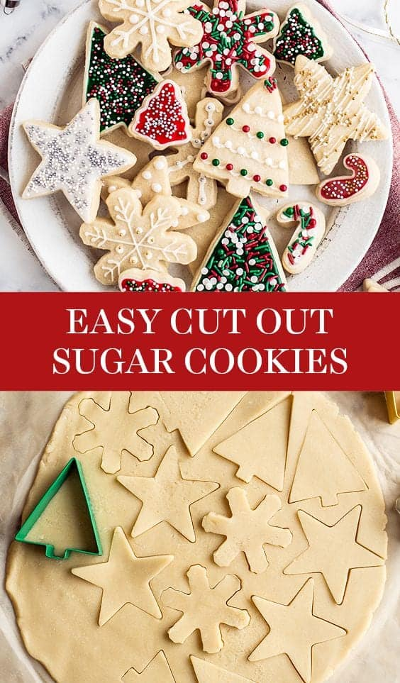 Easy Cut Out Sugar Cookies with Icing