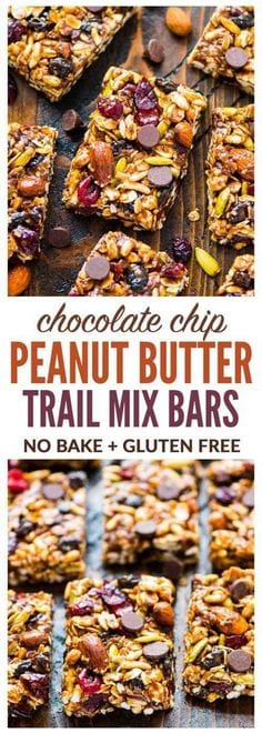 Trail Mix Peanut Butter Granola Bars