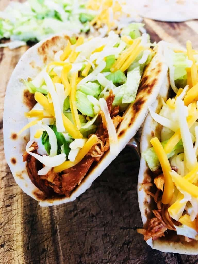 Salsa Ranch Chicken Tacos