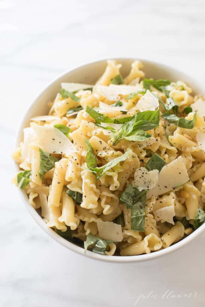 Basil Lemon Pasta Salad