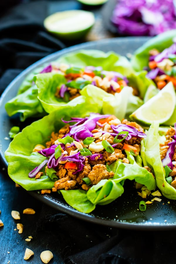 Ground Chicken Thai Lettuce Wraps