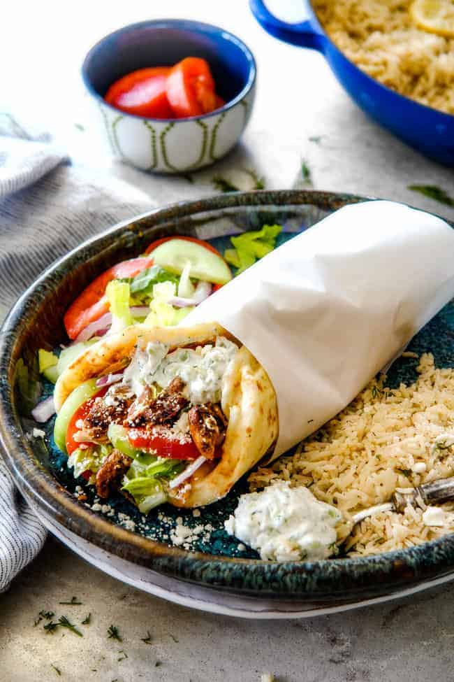 Greek Chicken Gyros