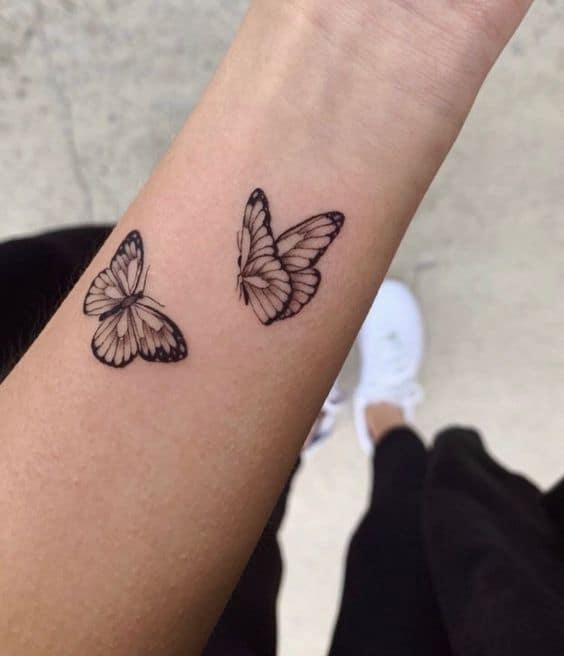 15 Small Simple Butterfly Tattoo Ideas Brighter Craft