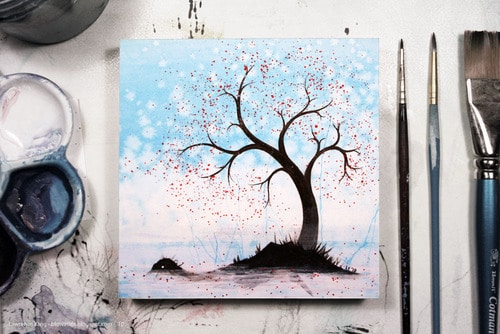 20 Tree Drawing Painting Ideas Brighter Craft