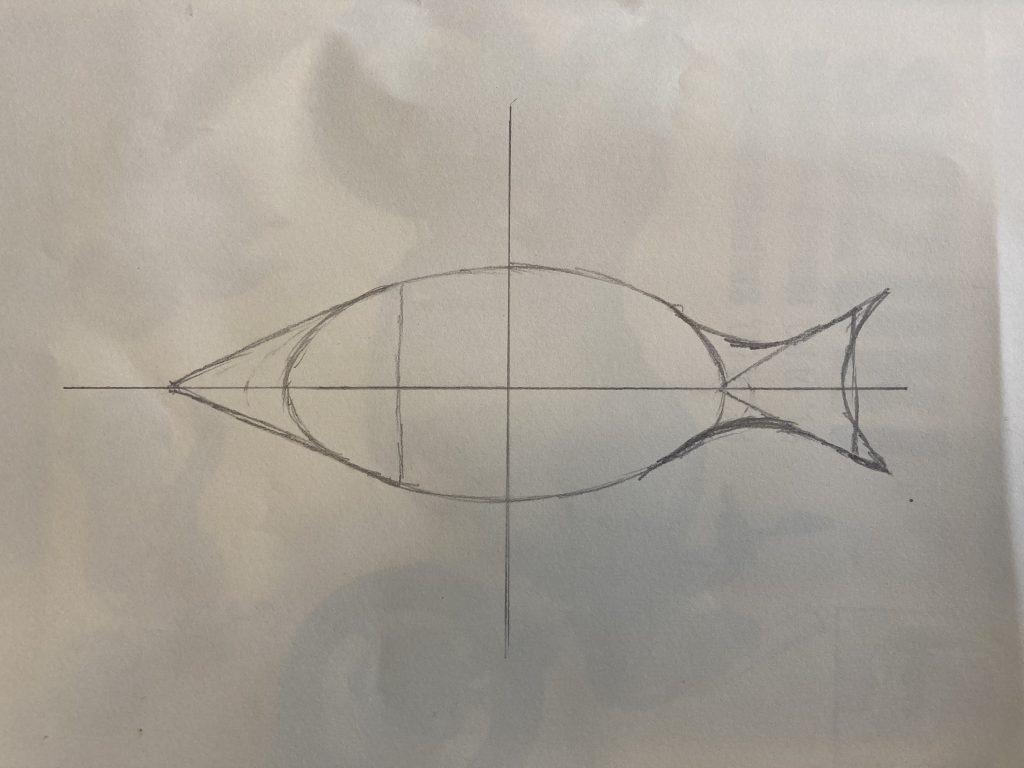 how to draw a fish framework