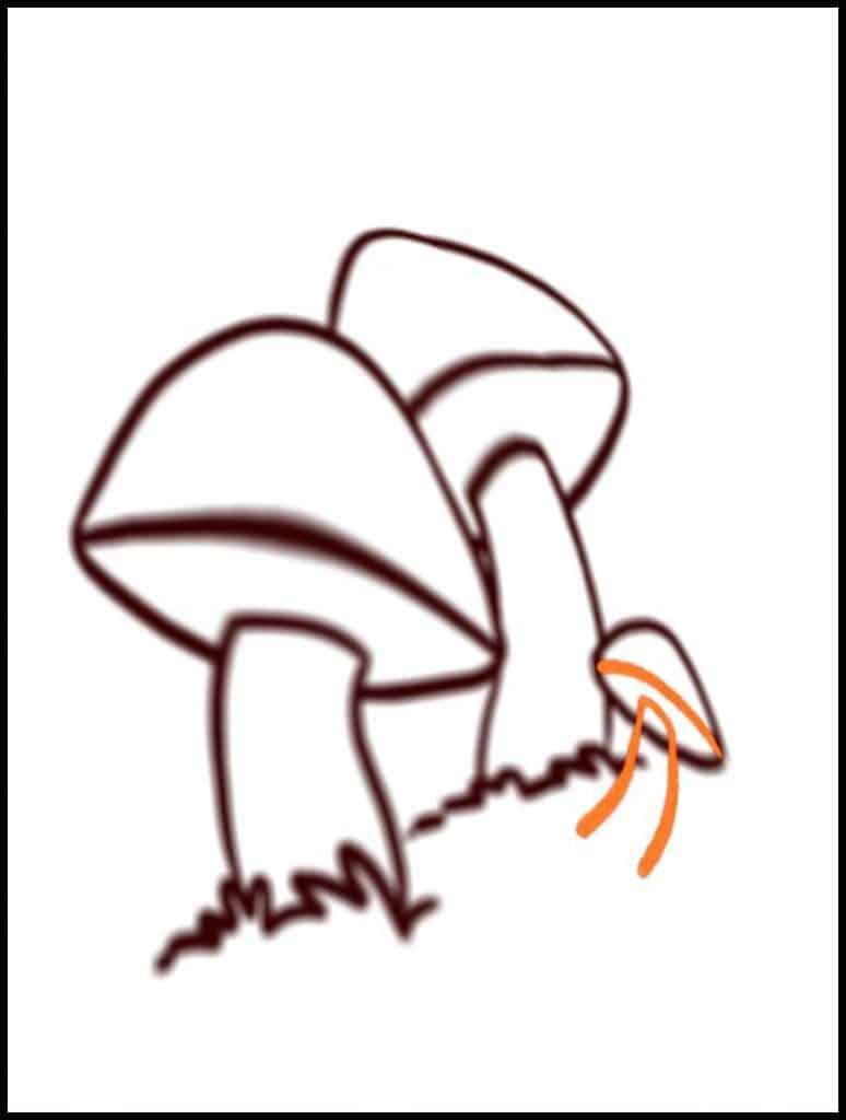 mushroom drawing shapes