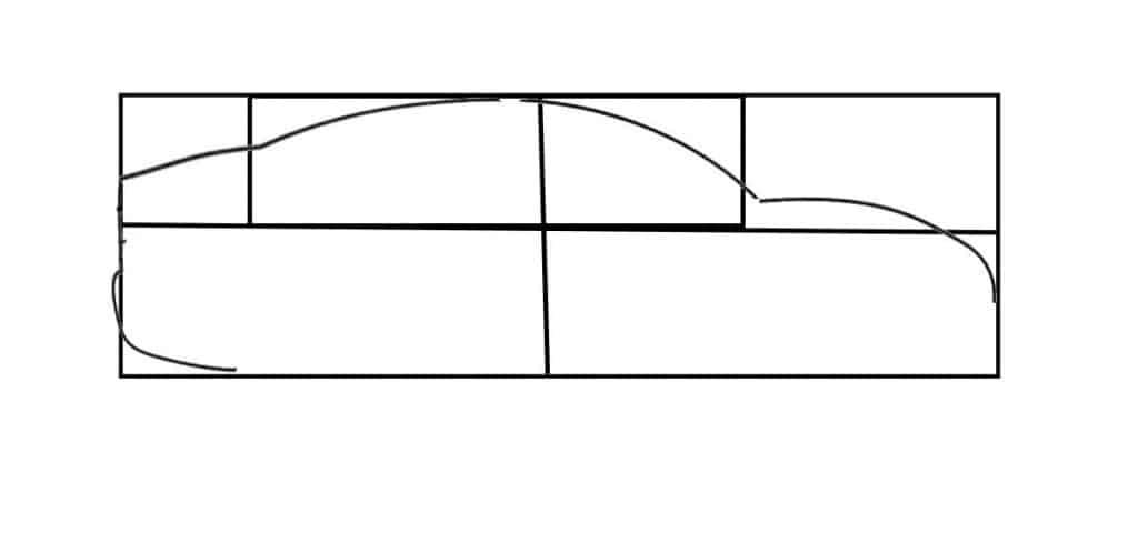 start of car drawing