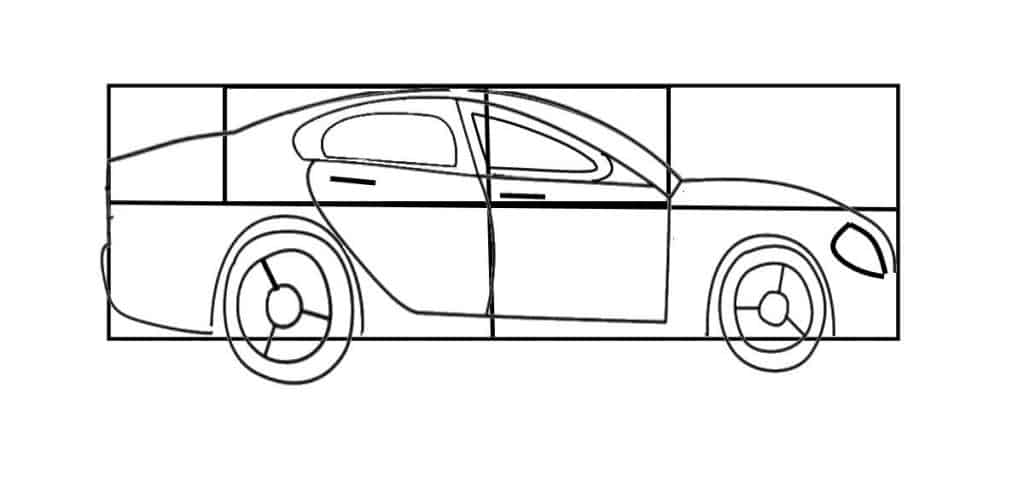 car drawing sketch
