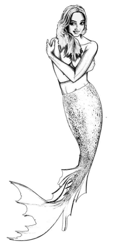 Final Mermaid Drawing