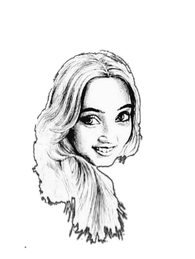 Mermaid Drawing Face
