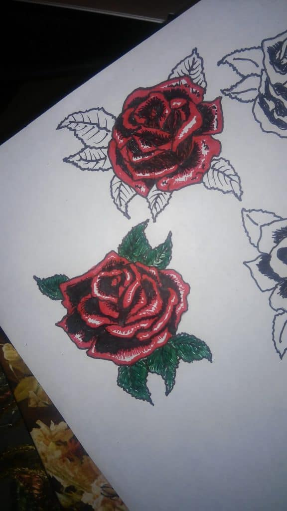 Some Simple Roses Can Make Great Tattoo Designs