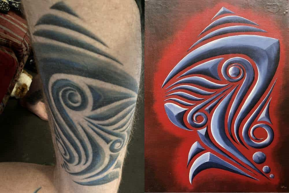 the tattoo of the painting